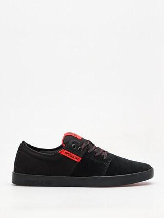 Supra Shoes Stacks II (black/risk red black)