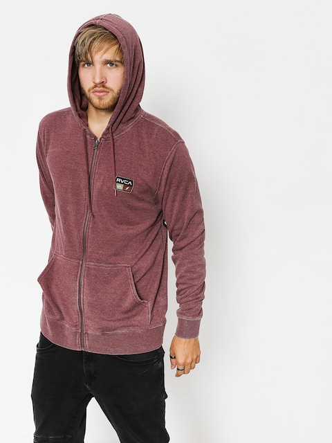 RVCA Sweatshirt Foxhole Zip (bordeaux)