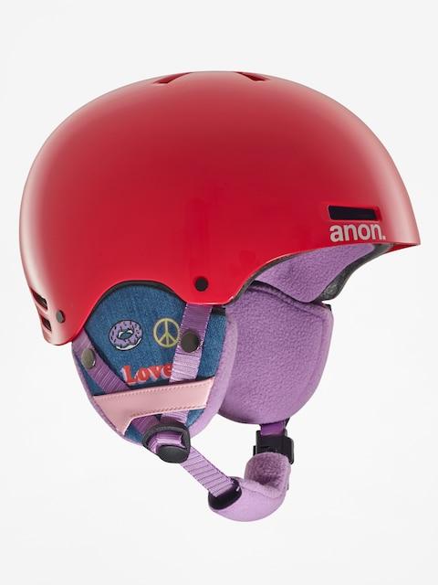Anon Helmet Dziecięcy kask Rime (girl power red)