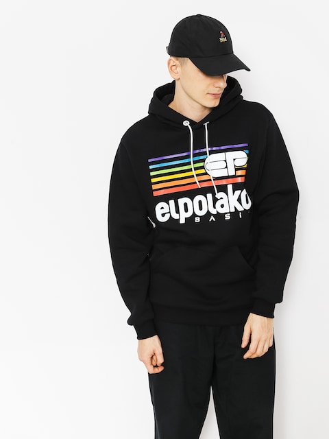 El Polako Hoody Rainbow HD (black)