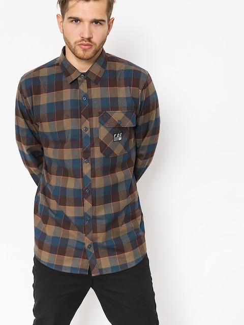 Fox Shirt Rowan Stretch Flannel (nvy)