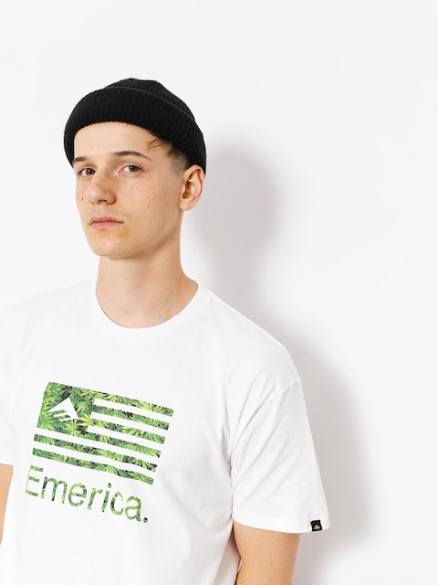 Emerica T-shirt Pure Flag (white/green)