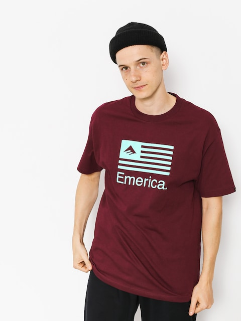 Emerica T-shirt Pure Flag (burgundy)