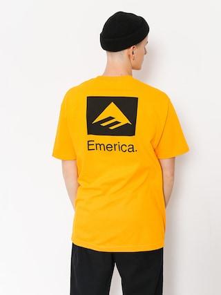Emerica T-shirt Brand Combo (gold)