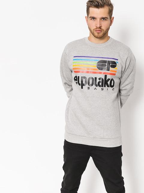El Polako Sweatshirt Rainbow (grey heather)
