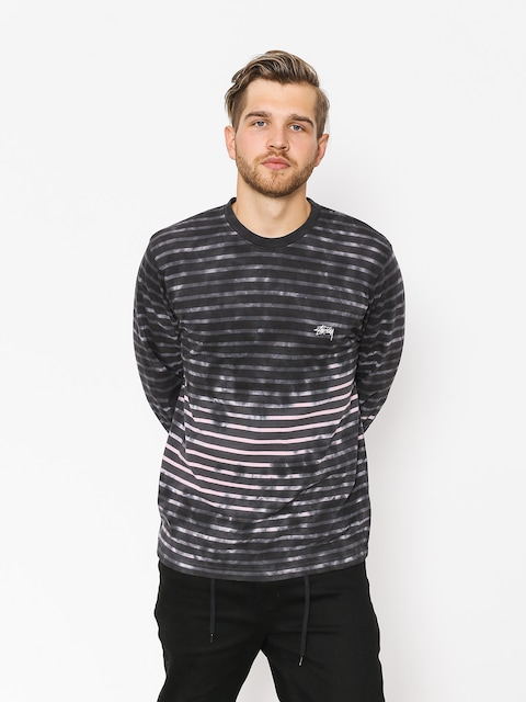 Stussy Longsleeve Bleach Stripe (charcoal)