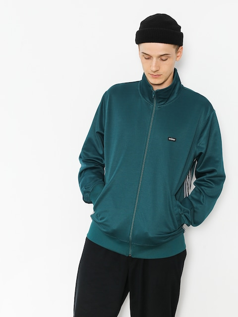 Stussy Sweatshirt Textured Rib Track (dark teal)