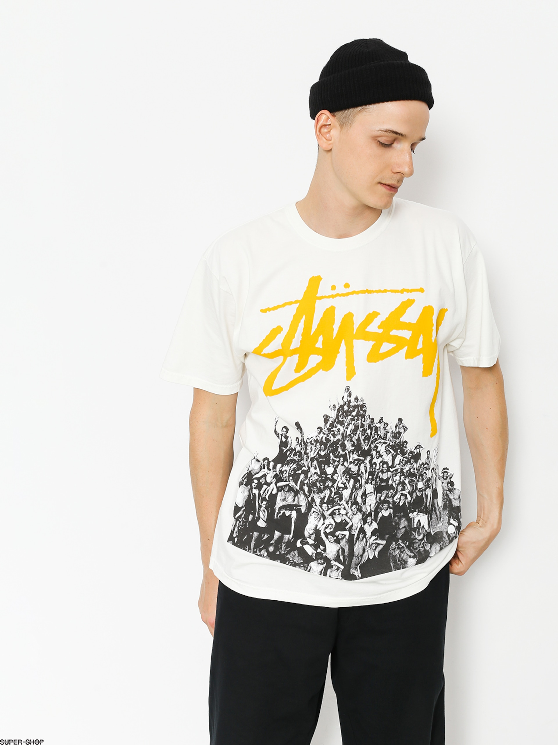 194f78457c9 Stussy T-shirt Beach Mob Pig Dyed (natural yellow)