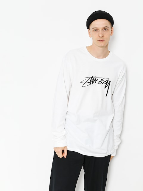 Stussy Longsleeve Smooth Stock (white)
