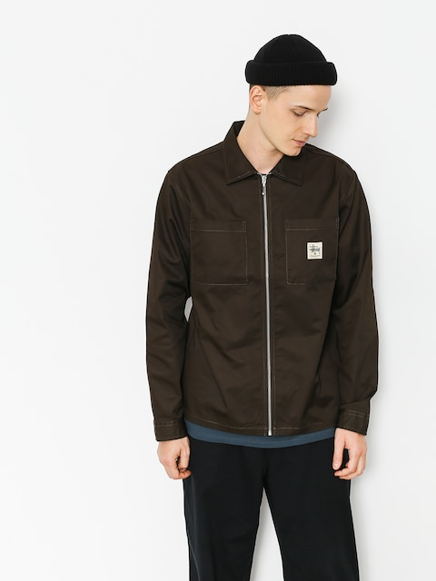 Stussy Shirt Zip Up Work (brown)