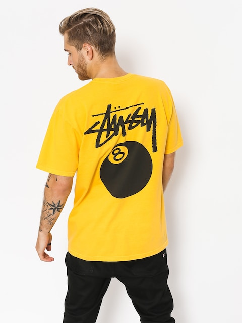 Stussy T-shirt 8 Ball Pig Dyed (gold)