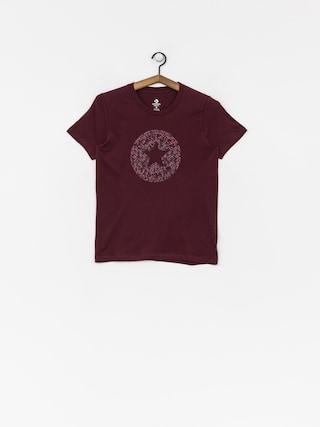 Converse T-shirt Reptile Chuck Patch Wmn (dark burgundy)