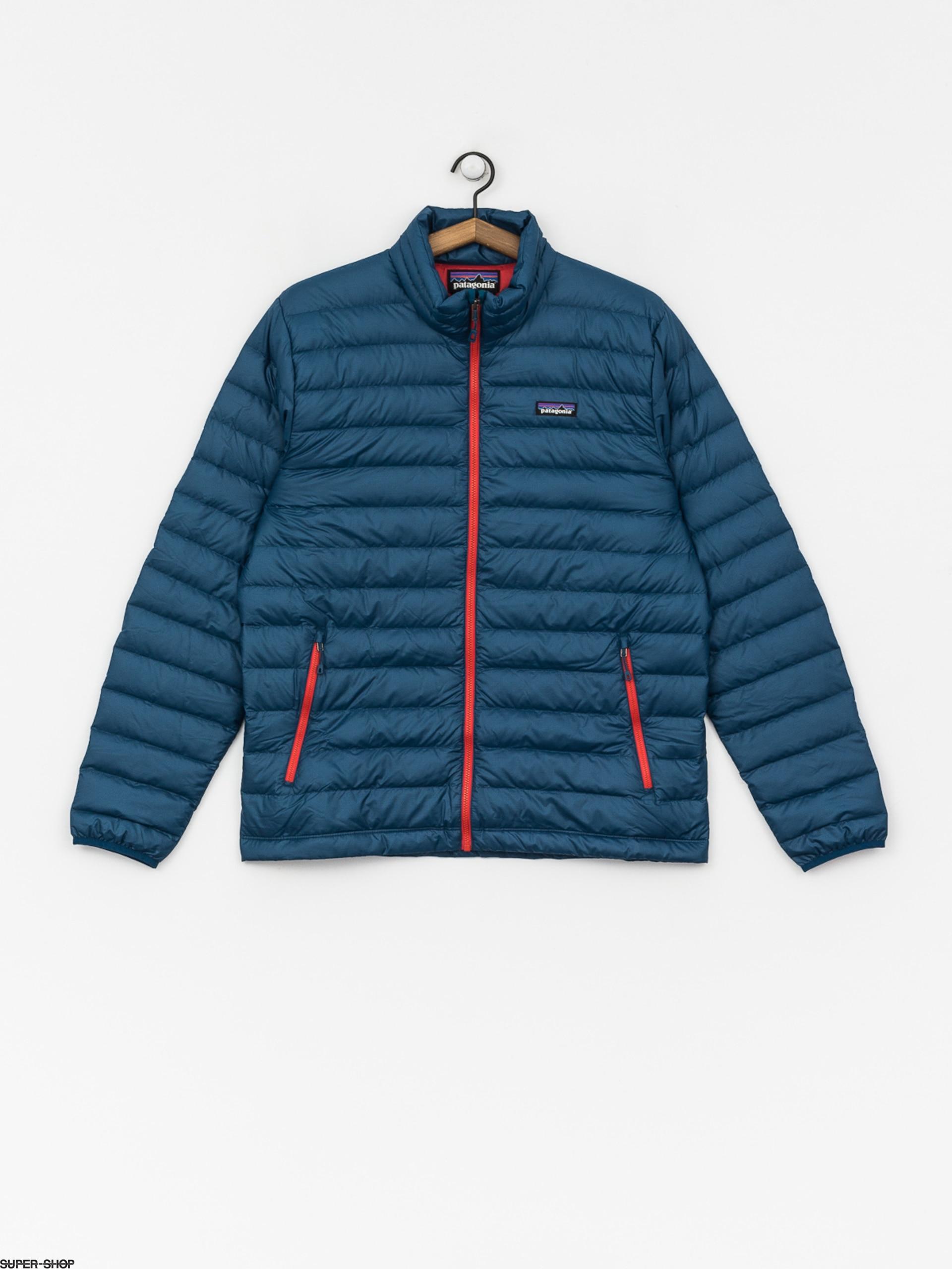 buy online fc0ac 27b03 Patagonia Jacke Down Sweater (big sur blue w/fire red)