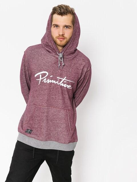 Primitive Hoodie Nuevo Contrast HD (burgundy heather)