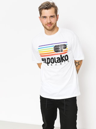 El Polako T-Shirt Rainbow (white)