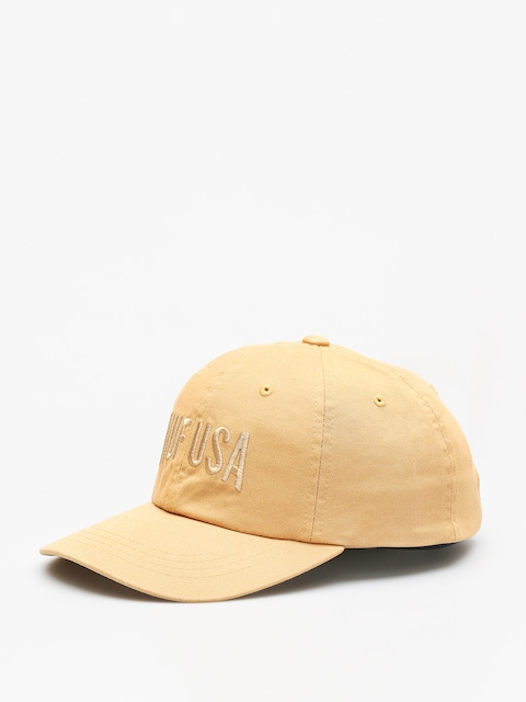 HUF Cap Team Curved Visor 6 Pannel ZD (honey mustard)