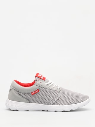 Supra Shoes Hammer Run (lt grey/risk red white)