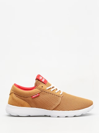 Supra Shoes Hammer Run (tan/risk red white)