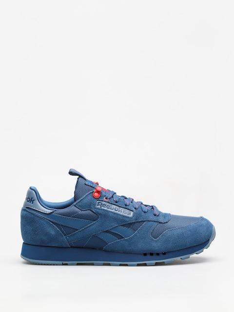 Reebok Schuhe Cl Leather Explore (bunker blue/blue slate/primal red)
