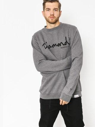 Diamond Supply Co. Sweatshirt Og Script (gunmetal heather)