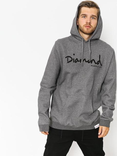 Diamond Supply Co. Hoody Og Script HD (gunmetal heather)