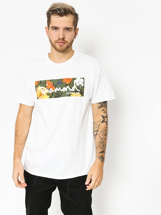 Diamond Supply Co. T-shirt Aloha Floral Box Logo (white)