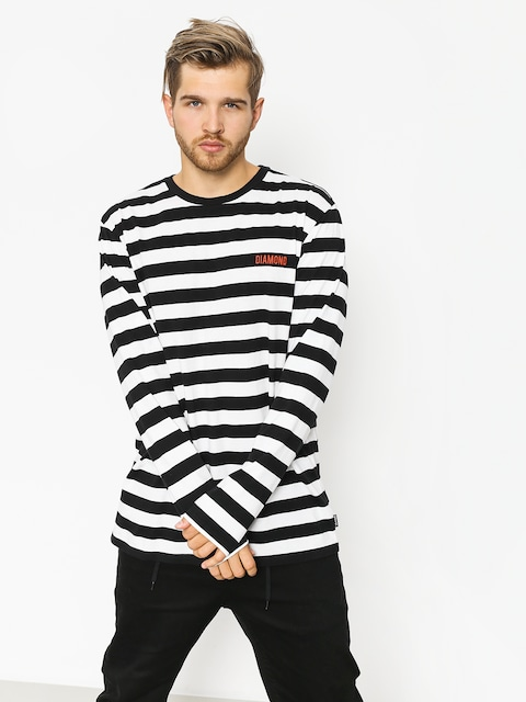 Diamond Supply Co. Longsleeve Diamond Striped Ls (black/white)