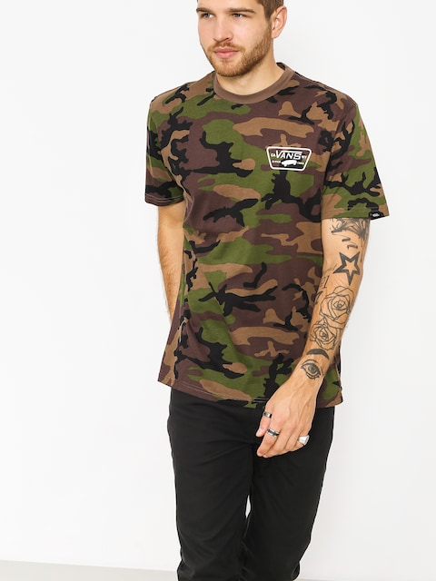 Vans T-shirt Full Patch Back (camo/white)