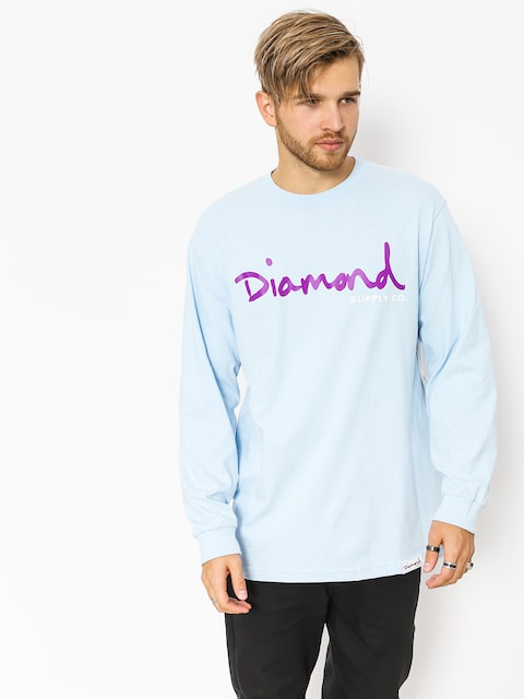 Diamond Supply Co. Longsleeve Og Script (powder blue)