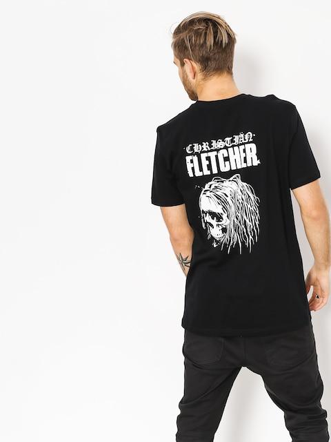 RVCA T-shirt Fletcher Skull (black)
