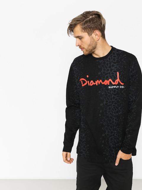 Diamond Supply Co. Longsleeve Cheetah Canvas Ls (black)