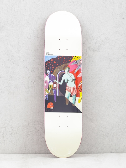 Polar Skate Deck Nick Boserio What We Do Is Secret (white)