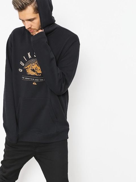 Quiksilver Funktions-Sweatshirt Big Logo Snow (black)
