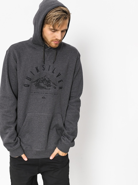 Quiksilver Active sweatshirt Big Logo Snow (black heather)