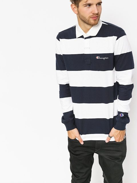 Champion Longsleeve Long Sleeve Polo T Shirt (nny/wht)