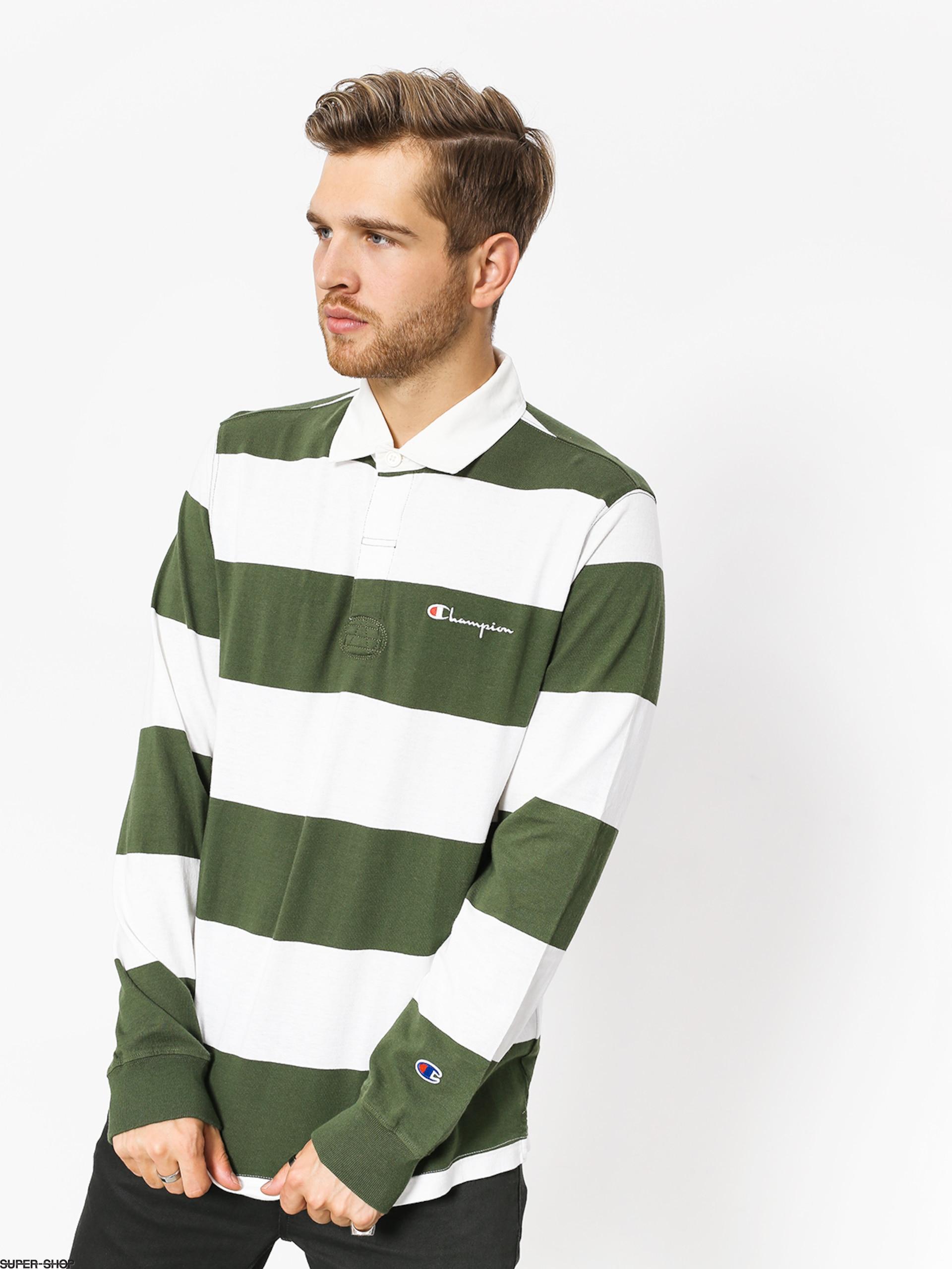 bf72899d Champion Longsleeve Long Sleeve Polo T Shirt (baf/wht)