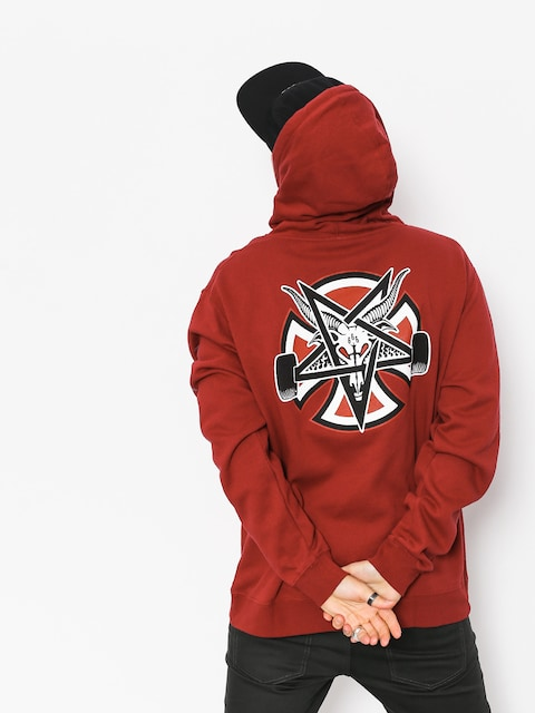 Independent x Thrasher Hoodie Pentagram Cross HD (garnet)
