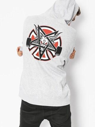 Independent x Thrasher Hoodie Pentagram Cross HD (grey heather)