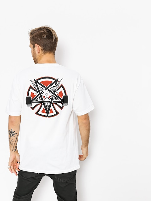 Independent x Thrasher T-Shirt Pentagram Cross (white)