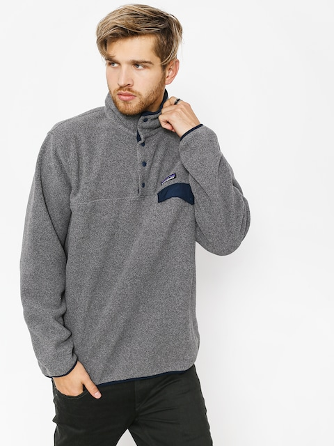 Patagonia Fleece  Synchilla Snap-T (nickel w/navy blue)