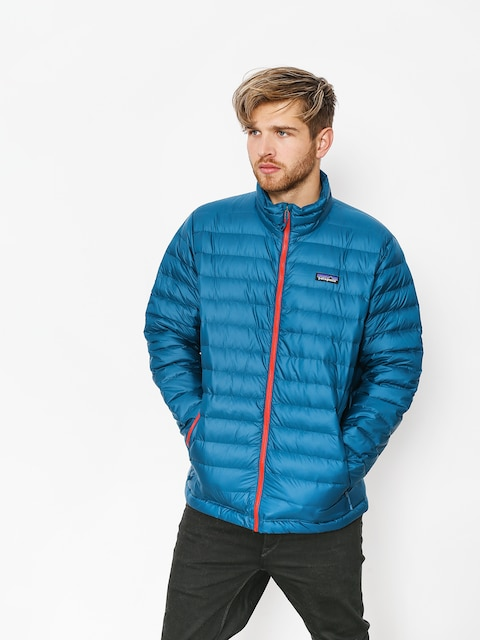 Patagonia Jacket Down Sweater (big sur blue w/fire red)