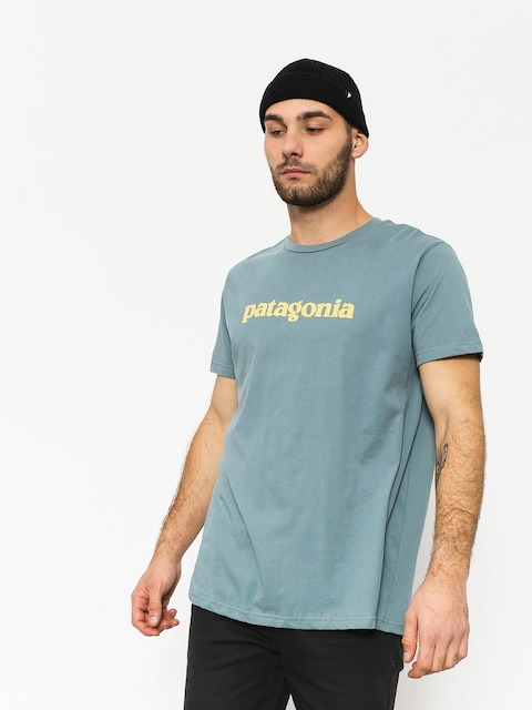Patagonia T-shirt Text Logo Organic (shadow blue)