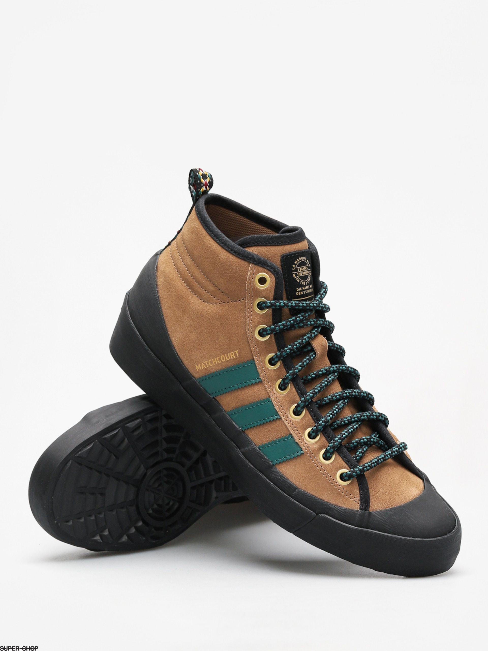 adidas Shoes Matchcourt High Rx3 (rawdesnobgrncblack)