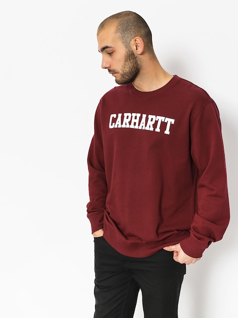 Carhartt WIP Sweatshirt College (mulberry white)