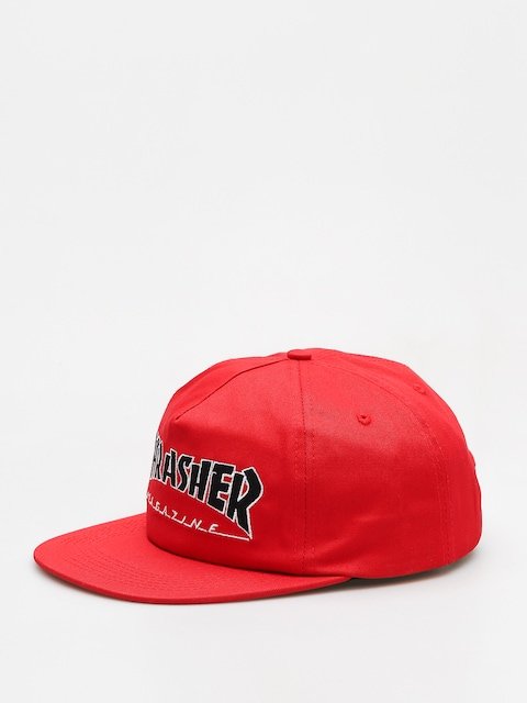 Thrasher Cap Outlined Snapback (red)