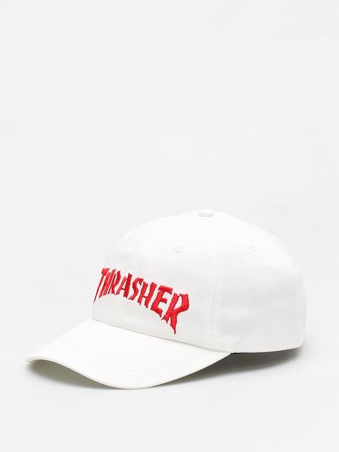 Thrasher Cap Nackface Invert Old Timer (white)