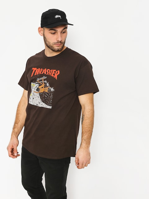 Thrasher T-Shirt Nackface Invert (brown)