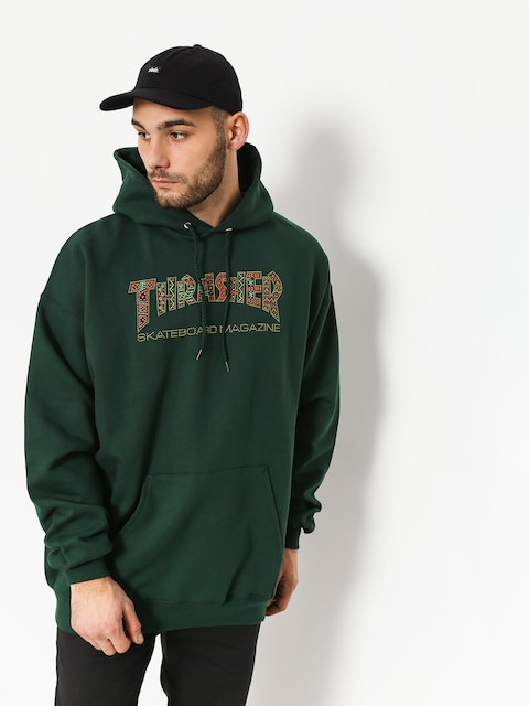 Thrasher Hoodie Davis Forest HD (green)
