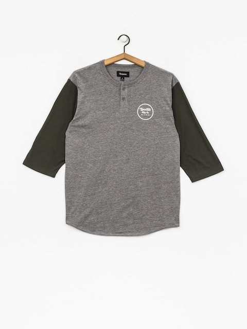Brixton T-Shirt Wheeler 3/4 Slv Hnly (heather grey/pine)