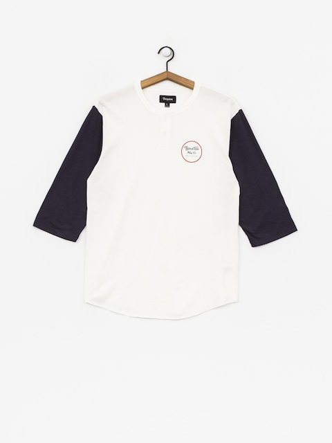 Brixton T-Shirt Wheeler 3/4 Slv Hnly (off white/navy)